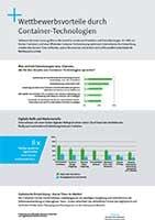 Infografik Container-Vorteile strategisch