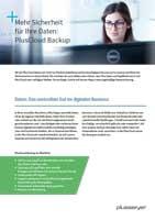 Infosheet pluscloud Backup
