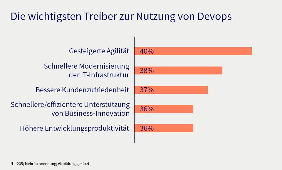 DevOps als Unternehmenskultur, Statistik zu den Treibern von DevOps