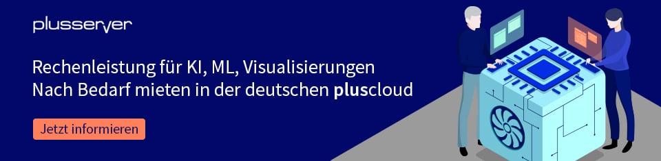 Cloud GPU Rechenleistung mieten in der pluscloud