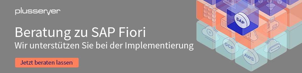 SAP Fiori Beratung bei plusserver