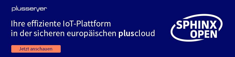 IoT-Plattform sphinx open online on pluscloud