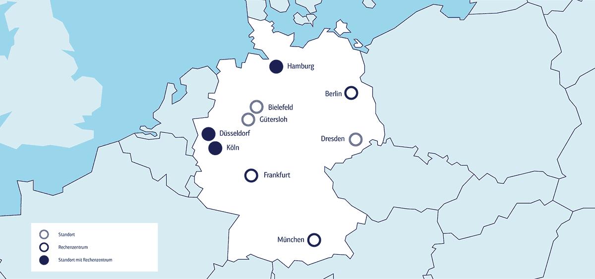 plusserver Standorte Karte